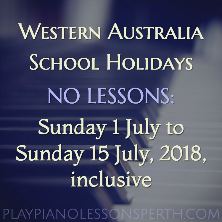 Play Piano Lessons Perth July School Holidays 2018