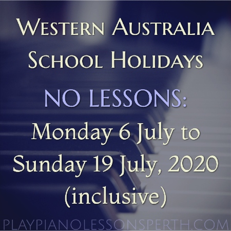 Play Piano Lessons Perth - Western Australia July School Holidays