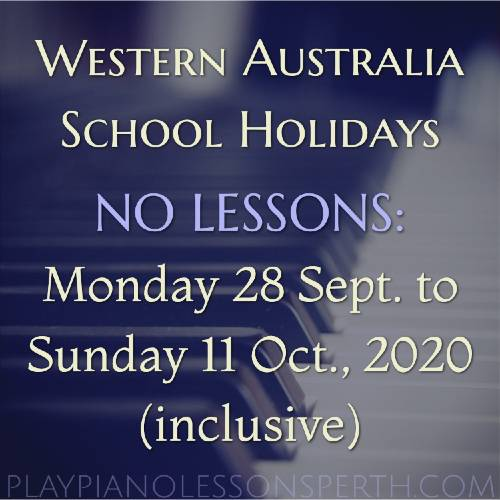 Play Piano Lessons Perth - Western Australia September School Holidays