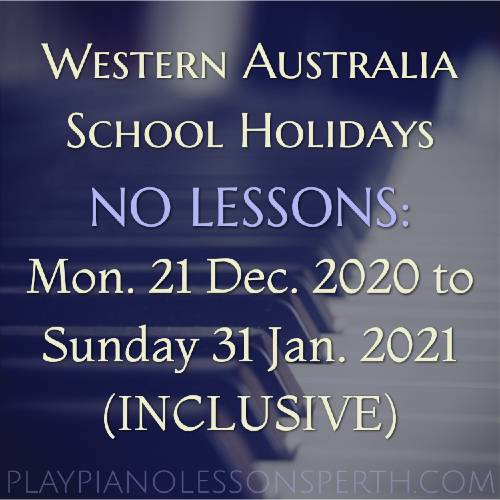 Play Piano Lessons Perth - Western Australia School Holidays