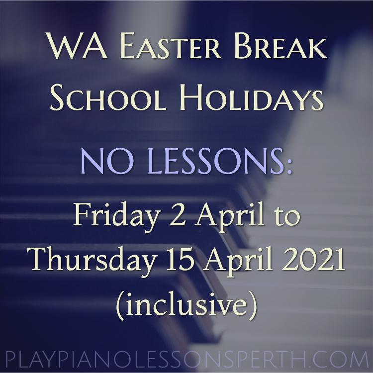 Play Piano Lessons Perth - Western Australia Easter School Holiday