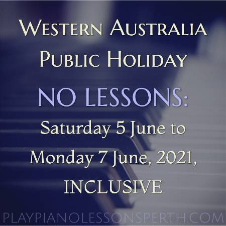 Play Piano Lessons Perth - Western Australia Day Holiday