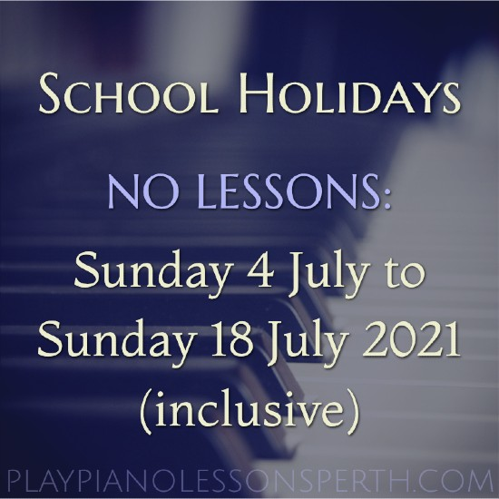 Play Piano Lessons Perth - Western Australia School Holiday
