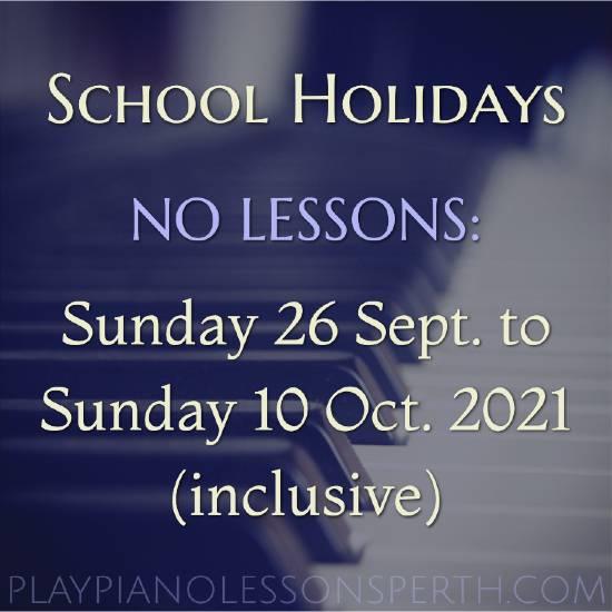 Play Piano Lessons Perth - Western Australia School Holidays Oct 2021